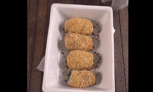 Πεντανόστιμα ρολάκια κοτόπουλου με σπανάκι και τυρί (vid)