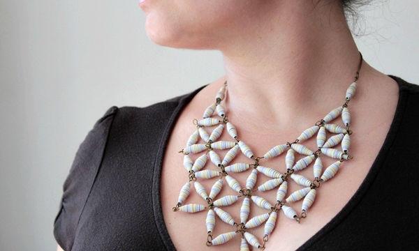 Μοναδικά κοσμήματα με χάντρες από χαρτί - Θα ενθουσιαστείτε (vid)