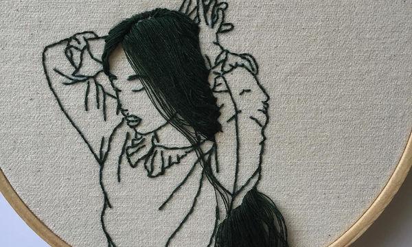 Γνωστό μοντέλο δημιουργεί πρωτότυπα γυναικεία πορτρέτα σε καμβά (pics)
