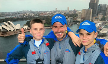 David Beckham: Δείτε τι έκανε με τους γιους του στην Αυστραλία (pics)