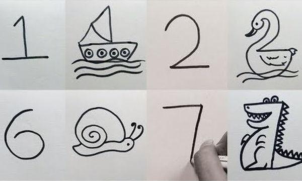 Πώς θα μάθει ένα παιδί να ζωγραφίζει: Μετατρέψτε τους αριθμούς σε υπέροχες ζωγραφιές (vid)