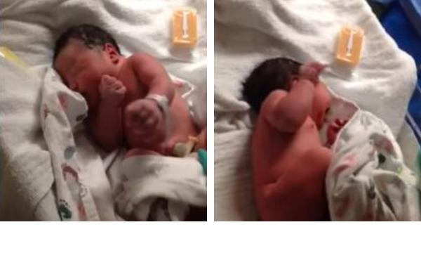Μοναδικό βίντεο: Το πρώτο πλύσιμο του νεογέννητου λίγες ώρες μετά τη γέννα (vid)