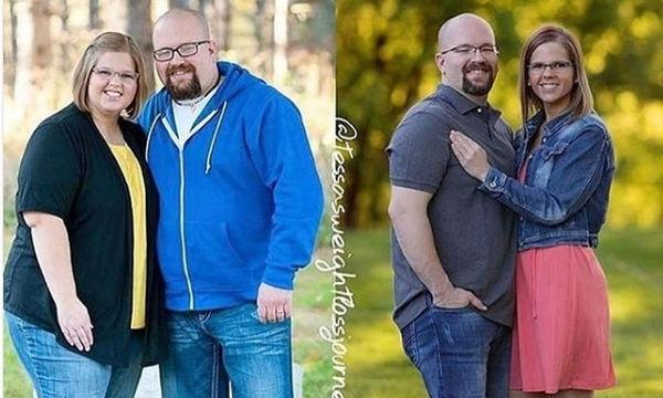 Εντυπωσιακό: Δεκαπέντε ζευγάρια έχασαν πολλά κιλά όχι πριν αλλά μετά το γάμο (pics)