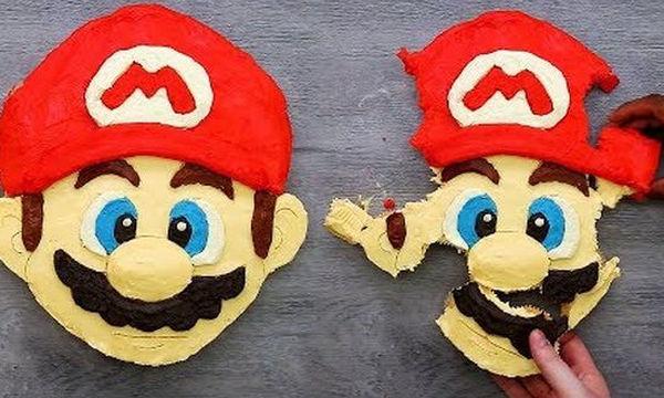Τούρτα από cupcakes: Δείτε πώς θα φτιάξετε τον Super Mario (vid)
