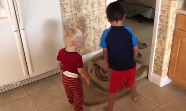 «Μπαμπά, πού είσαι;» - Το τρικ που άφησε άφωνους τους μπόμπιρες (vid)