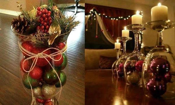 Μοναδικές χριστουγεννιάτικες ιδέες διακόσμησης με ποτήρια και βάζα (vid)
