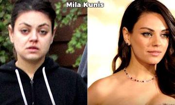 Το πραγματικό πρόσωπο διάσημων γυναικών - Δείτε πώς είναι χωρίς make up, photoshop και φίλτρα (vid)