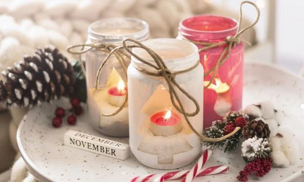 Υπέροχες χριστουγεννιάτικες γυάλες που μπορείτε να φτιάξετε για να διακοσμήσετε το σπίτι σας (pics)