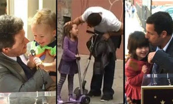 Διάσημοι μπαμπάδες στις πιο τρυφερές στιγμές με τα παιδιά τους (vid)