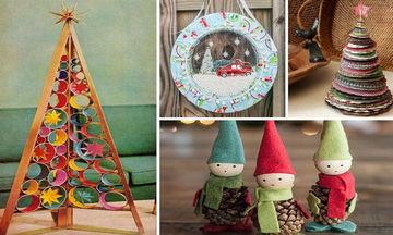 DIY: Πρωτότυπες ιδέες για χειροποίητα χριστουγεννιάτικα στολίδια (vid)
