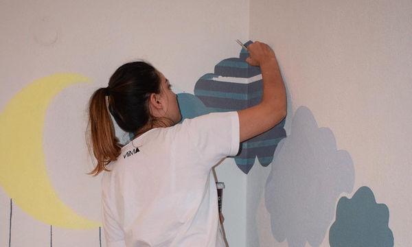 Ζωγραφιές τοίχου για το παιδικό δωμάτιο (pics)