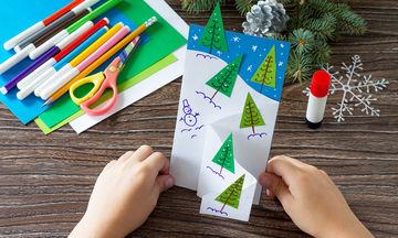 Φτιάξτε μόνες σας χριστουγεννιάτικες κάρτες (vid)
