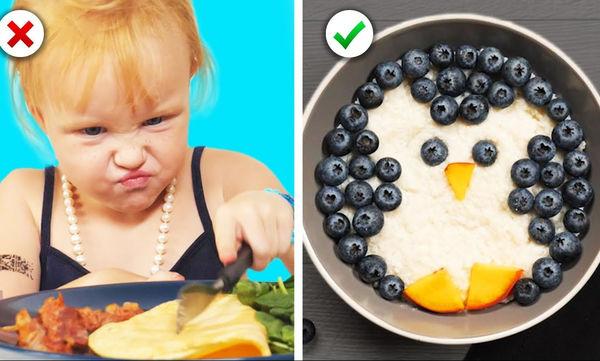 Δώδεκα ιδέες για φαγητό που τα παιδιά σας θα λατρέψουν (vid)
