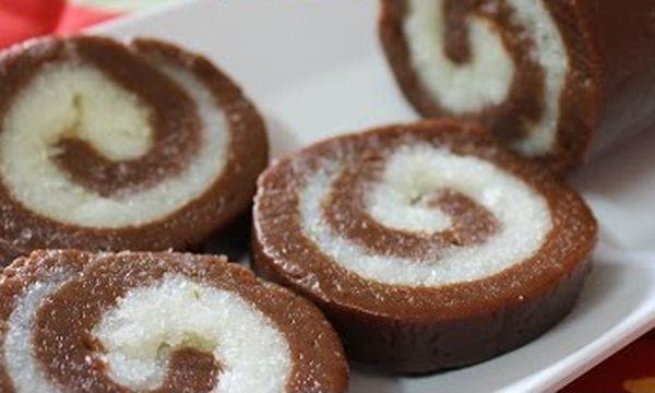 Εύκολος κορμός σοκολάτας χωρίς αυγά (vid)