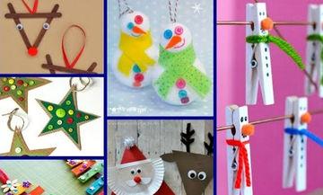 Είκοσι πέντε εύκολες χριστουγεννιάτικες κατασκευές για παιδιά (vid + pics)