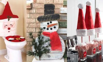 Εύκολες κατασκευές για χριστουγεννιάτικα στολίδια με υλικά που έχετε σπίτι σας (vid)