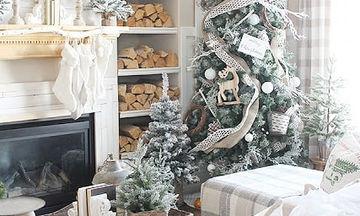 Φέτος τα Χριστούγεννα ντύνουμε το σπίτι μας στα λευκά - Είκοσι μοναδικές ιδέες (pics)