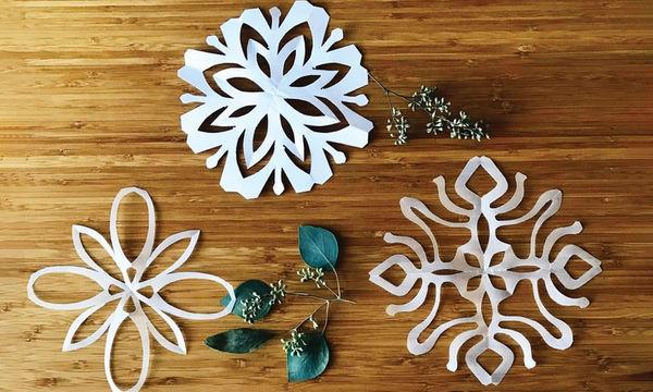 Πανέμορφες νιφάδες χιονιού από χαρτί - Πώς θα τις φτιάξετε (pics + vid)