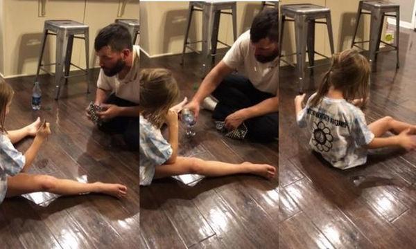 Απίστευτη φάρσα! Δείτε τι κάνει ο μπαμπάς στην κόρη του (vid)