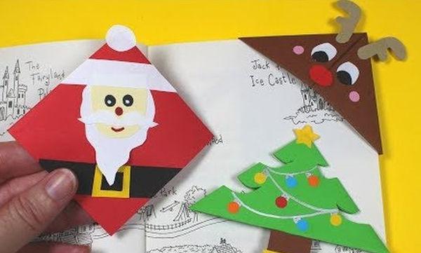 Χειροτεχνία για παιδιά: Τρεις εύκολοι χριστουγεννιάτικοι σελιδοδείκτες (vid)