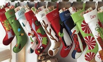 Φτιάξτε μόνες σας τις Χριστουγεννιάτικες κάλτσες για το τζάκι! (vid)