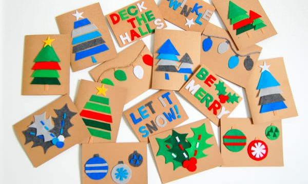 Ιδέες για να φτιάξουν τα παιδικά τις δικές τους χριστουγεννιάτικες κάρτες (pics)