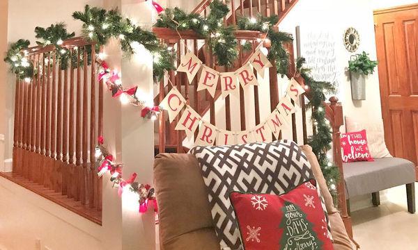 Φανταστικές ιδέες για να στολίσετε το σπίτι με χριστουγεννιάτικες γιρλάντες (pics)