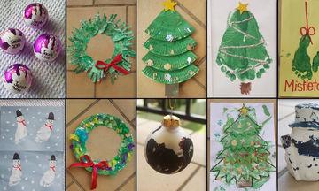 Δέκα απλές και όμορφες χριστουγεννιάτικες χειροτεχνίες που θα ενθουσιάσουν τα παιδιά (vid)