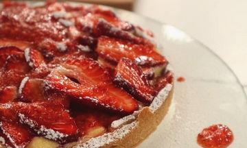 Συνταγή για πεντανόστιμη τάρτα με φράουλες