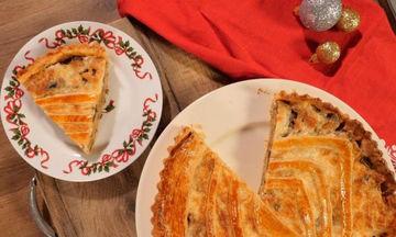 Τάρτα μανιταριών με γλυκό τραχανά (vid)