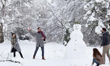 Είσαι σίγουρη ότι θέλεις να παίξεις χιονοπόλεμο μαζί τους;