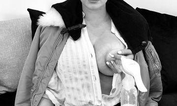 Ακόμη μια διάσημη ηθοποιός ποζάρει με το θήλαστρο στο στήθος (pics)
