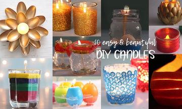 Δείτε πώς να φτιάξετε μόνοι σας διακοσμητικά κεριά για το σπίτι (vid)