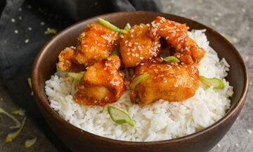 Γλυκόξινο κοτόπουλο με ρύζι - Πιο νόστιμο δεν έχετε φτιάξει