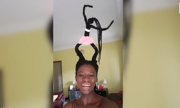 Δείτε τι φτιάχνει αυτή η γυναίκα με τα μαλλιά της: Δεν θα το πιστεύετε! (vid)