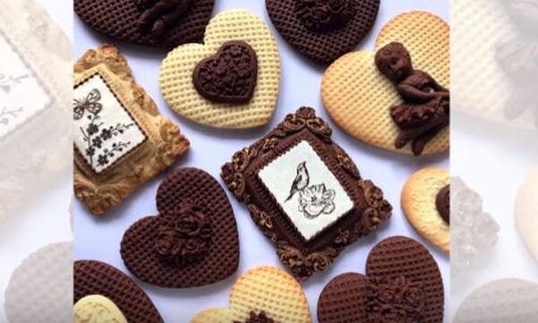 Θέλετε να διακοσμήσετε τα μπισκότα σας χωρίς γλάσο; Σας έχουμε φανταστικές ιδέες (vid)