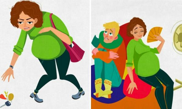 Είσαι έγκυος; Τότε θα ταυτιστείς με αυτά τα σκίτσα (pics)