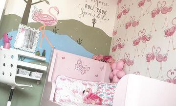 Βάλτε χρώμα στο παιδικό δωμάτιο - Διακοσμήστε το με φλαμίνγκο (pics)