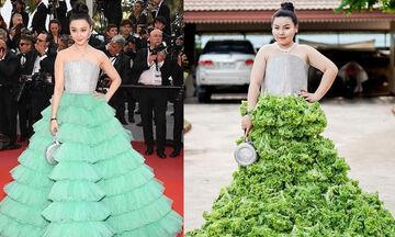 Αναπαριστά εμφανίσεις γνωστών celebrities με ρούχα που φτιάχνει από τρόφιμα - Δείτε τις (vid)