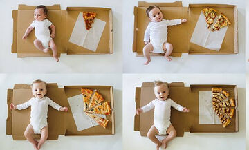 Τι σχέση μπορεί να έχει η πίτσα με την ανάπτυξη του μωρού; Γι΄αυτή τη μαμά έχει (pics)