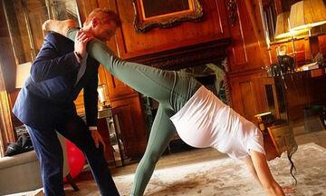 Διέρρευσαν φωτογραφίες: H Meghan κάνει yoga με φουσκωμένη κοιλιά κι ο Harry την βοηθάει
