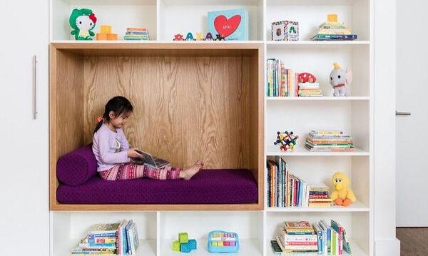 Γωνιά ανάγνωσης στο παιδικό δωμάτιο: Η σημασία της και ιδέες για να τη διακοσμήσετε (pics)