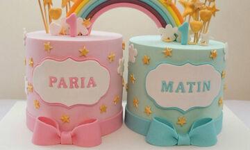 Γενέθλια διδύμων: Εντυπωσιακές ιδέες για να διακοσμήσετε την τούρτα (pics)