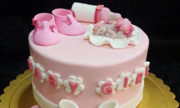 Περιμένετε κορίτσι; Ιδέες για να διακοσμήσετε την τούρτα του baby shower party (pics)