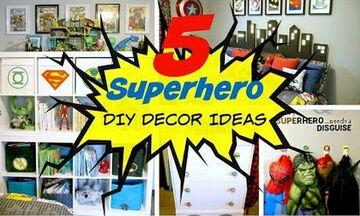 Εύκολες κατασκευές για το παιδικό δωμάτιο με θέμα τους σούπερ ήρωες (vid)