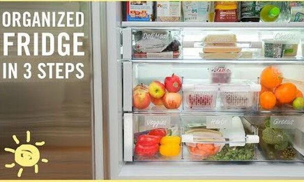 Πώς να οργανώσετε το ψυγείο σας εύκολα και αποτελεσματικά με 3 κινήσεις!  (vid)