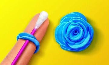 Φτιάξε μαζί με τα παιδιά διακοσμητικά λουλούδια από χαρτί και ύφασμα (vid)