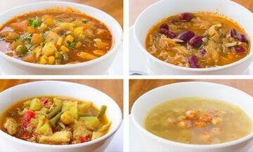 Σούπες λαχανικών για δίαιτα: 4 υγιεινές και εύκολες συνταγές (vid)