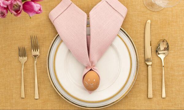 Διακόσμηση πασχαλινού τραπεζιού - Αυγουλάκια που γίνονται κουνελάκια (pics&vid)