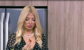 Δεν έχει ξαναγίνει! Η Σκορδά έφαγε ένα ντολμαδάκι και… εξαφανίστηκε από το πλατό! Δείτε τι συνέβη!